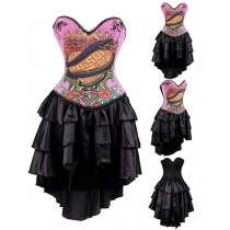 Pink Snake One Piece Corsets Skirt M1362