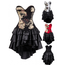 Sexy One Pieces Punk Corset Dress M1365