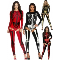 Fashion Skeletons Dancing Costume For Halloween