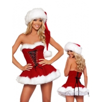 Hot sale short red christmas dress M1164