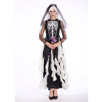 Mexican Necromancer makeup party Bride Skull Clothing M40250