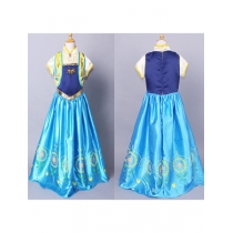 New Frozen Fever Anna Kid Princess Dress Costume M8010