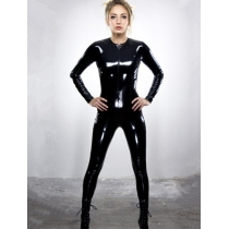 Sexy Long Sleeves Pvc Leather Catsuit M7271
