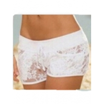 Hollow out lace white and black panty short panty M2103F
