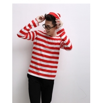 Casual  lovely red and white clothes M40303