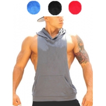 Men's Sporting Vest With Hat Tank Tops M6103