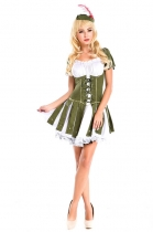 Green short-sleeved women costume m4720