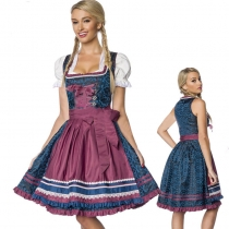 High Quality Traditional Bavarian Oktoberfest Beer Girl Costume m40664
