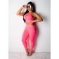 Fashion Two Piece Set Crop Top And Pants  M8358